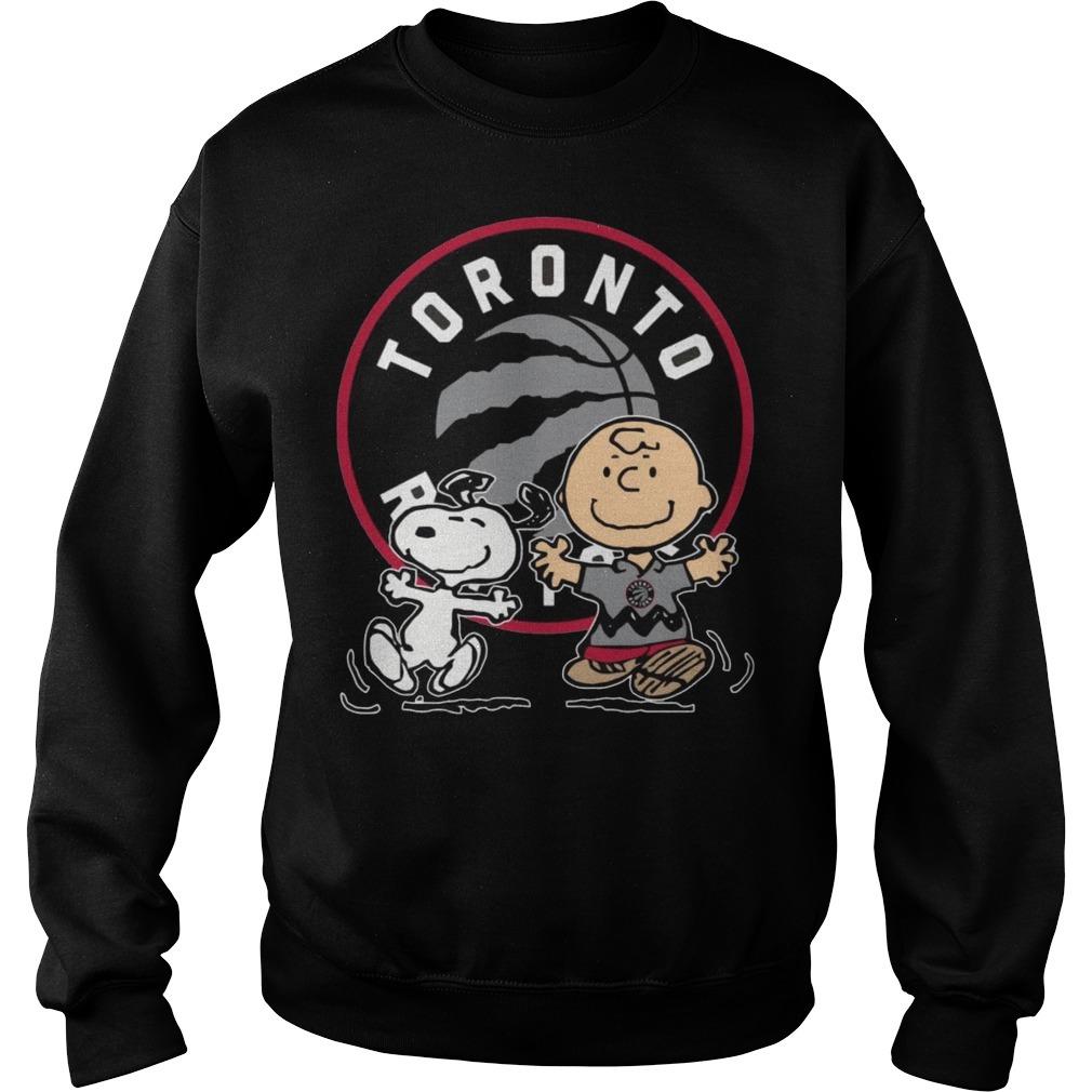Snoopy and Charlie Brown Toronto Raptors Sweater