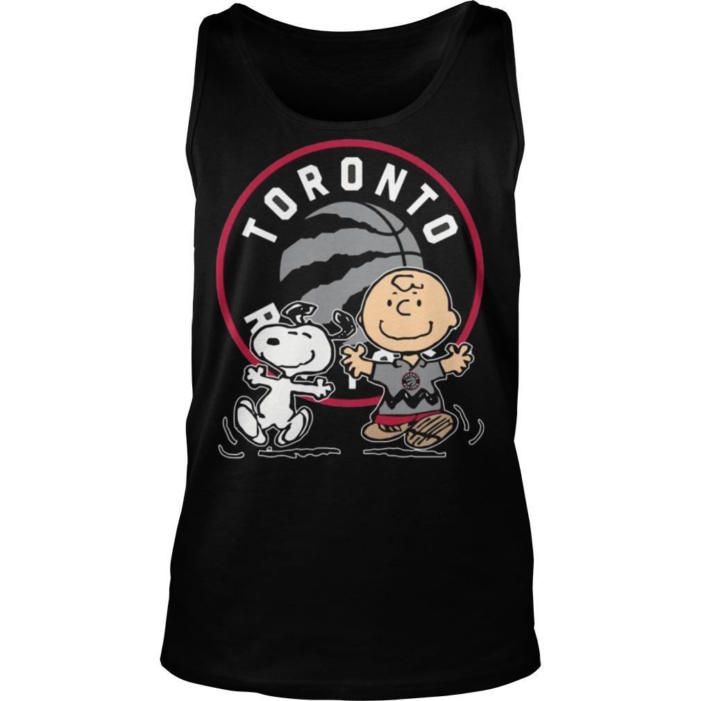 Snoopy and Charlie Brown Toronto Raptors Tank top