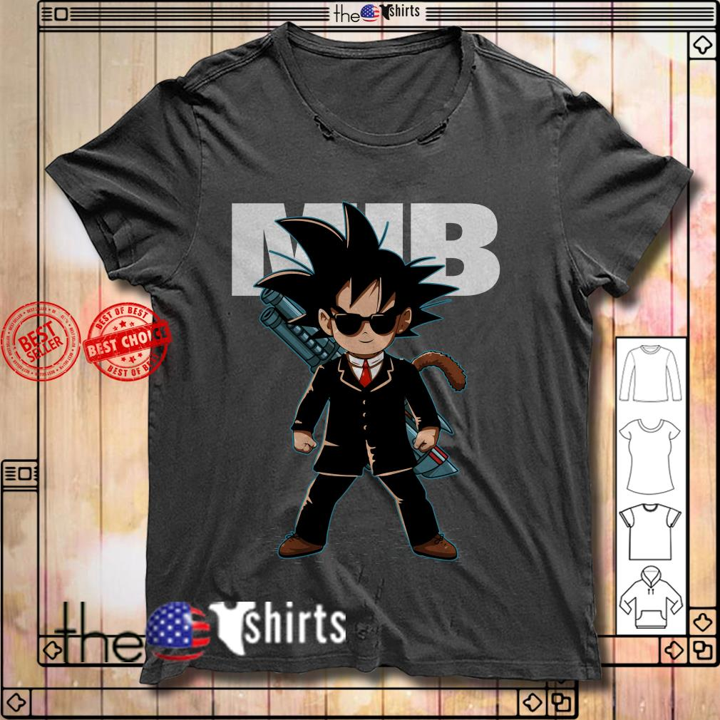 Songoku men in black costume shirt