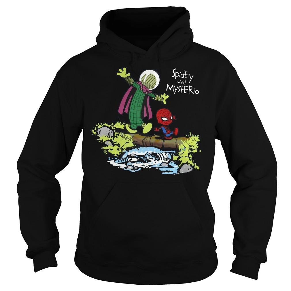 Spider-Man and Mysterio Calvin and Hobbes Hoodie