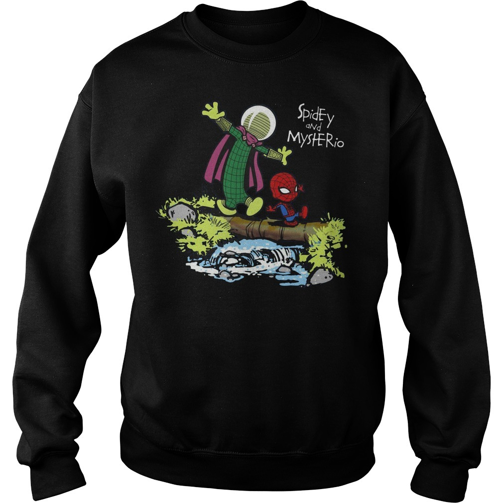 Spider-Man and Mysterio Calvin and Hobbes Sweater