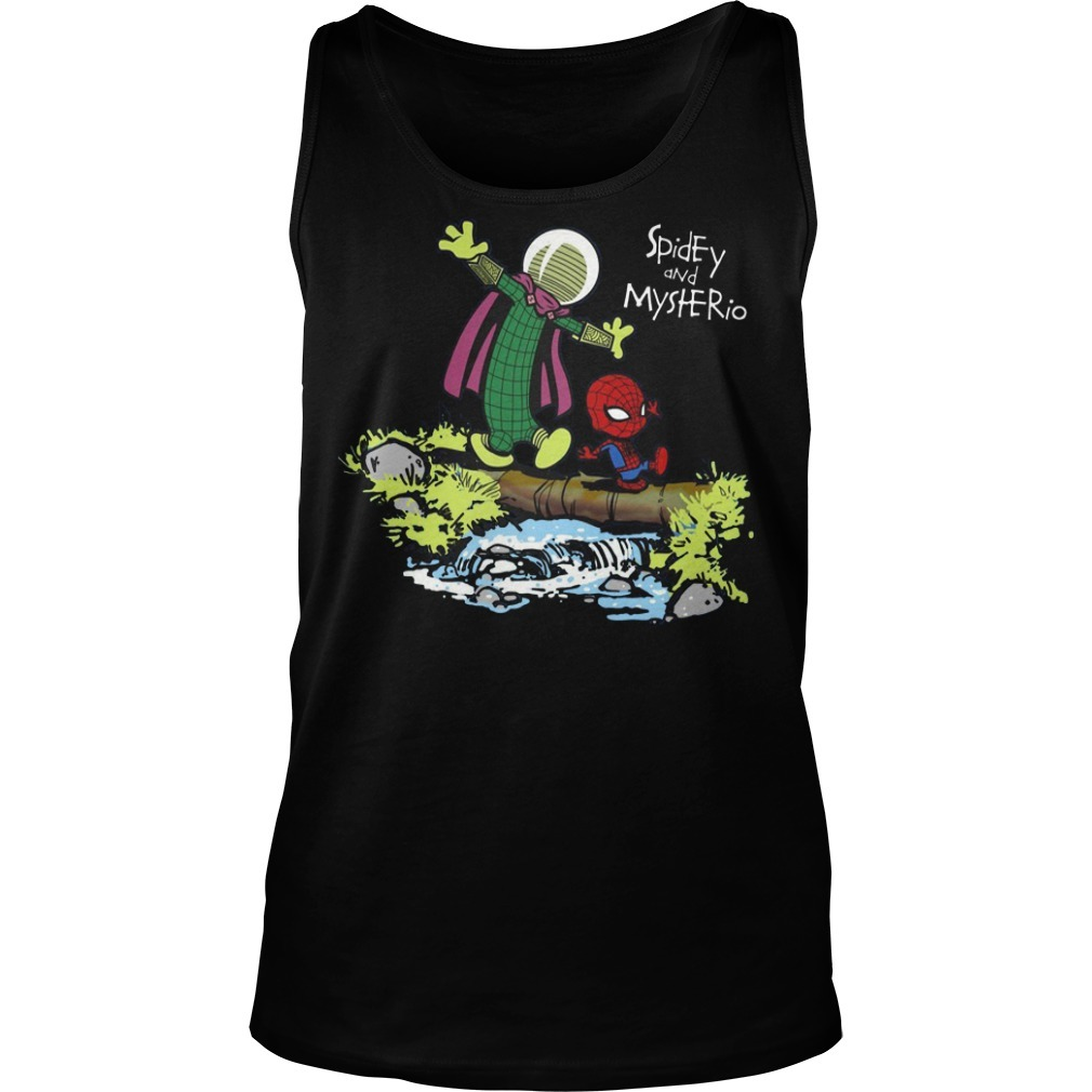 Spider-Man and Mysterio Calvin and Hobbes Tank top
