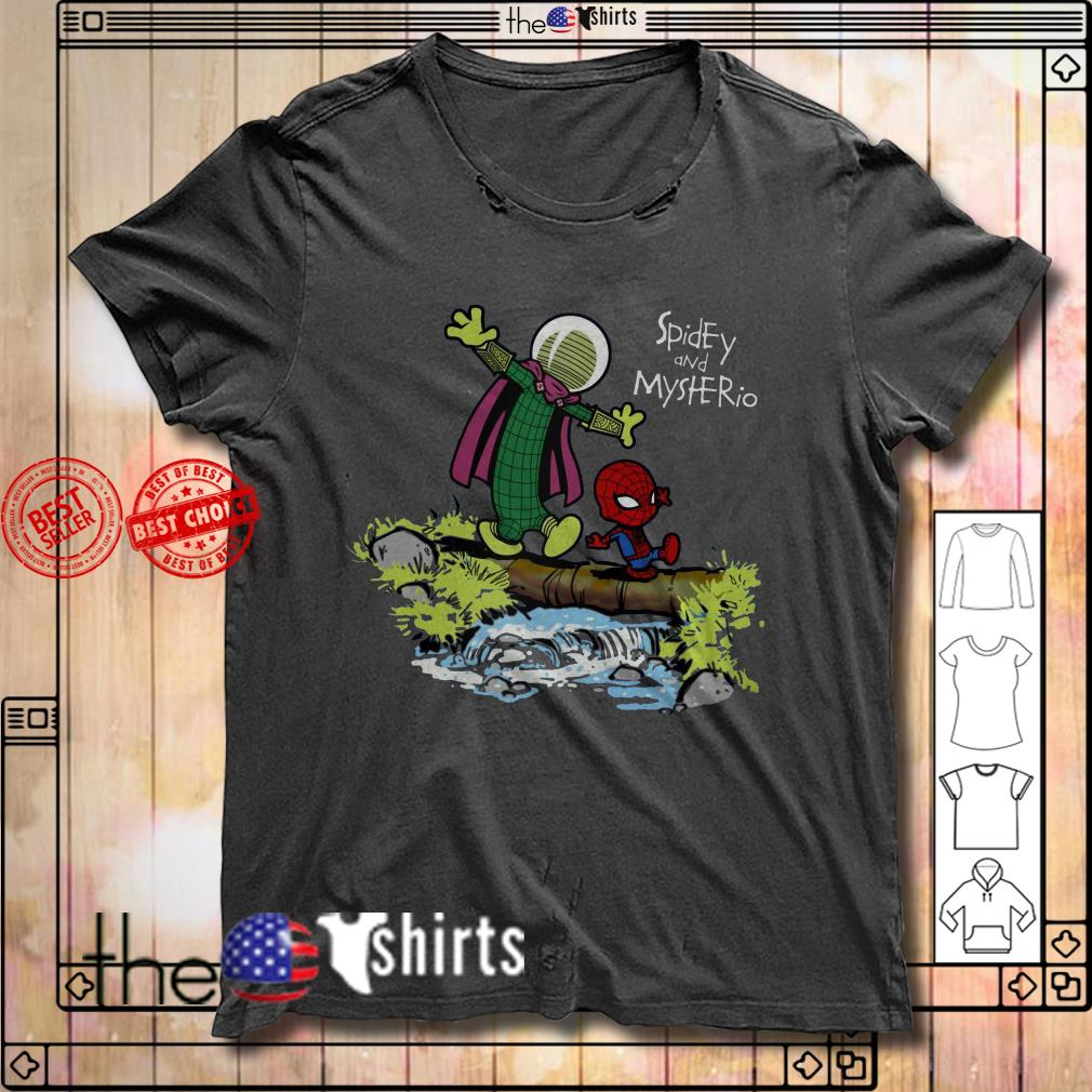 Spider-Man and Mysterio Calvin and Hobbes shirt