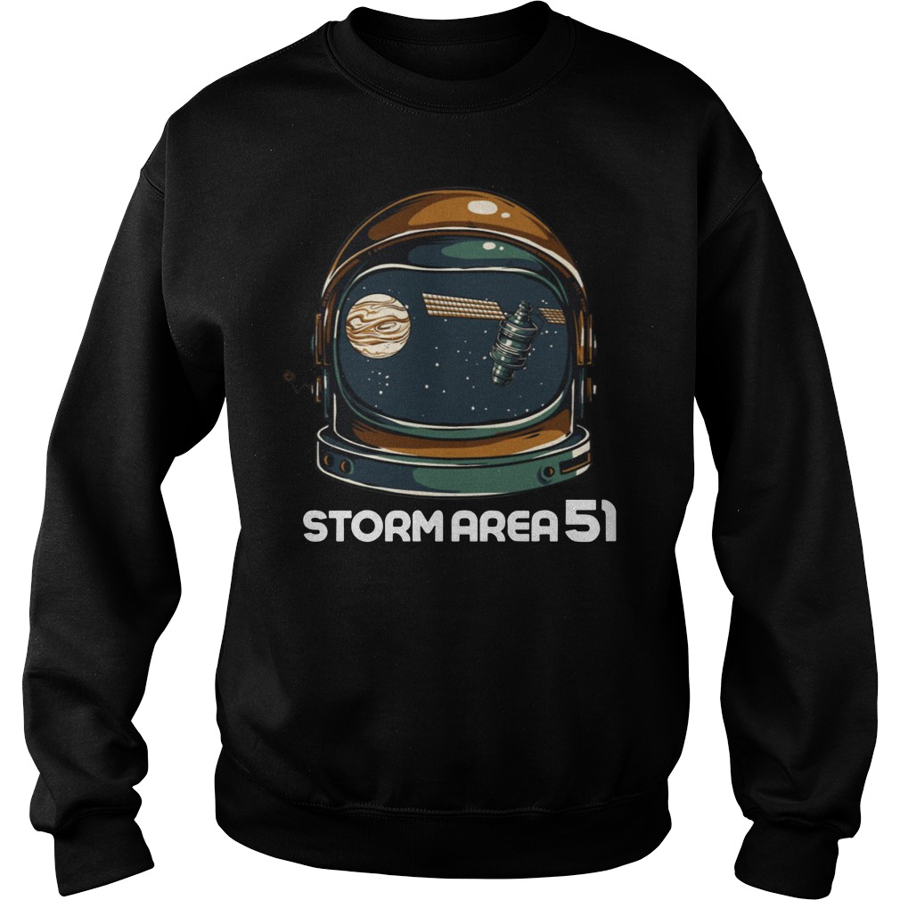 Storm Area 51 Alien UFO astronaut cap shirt