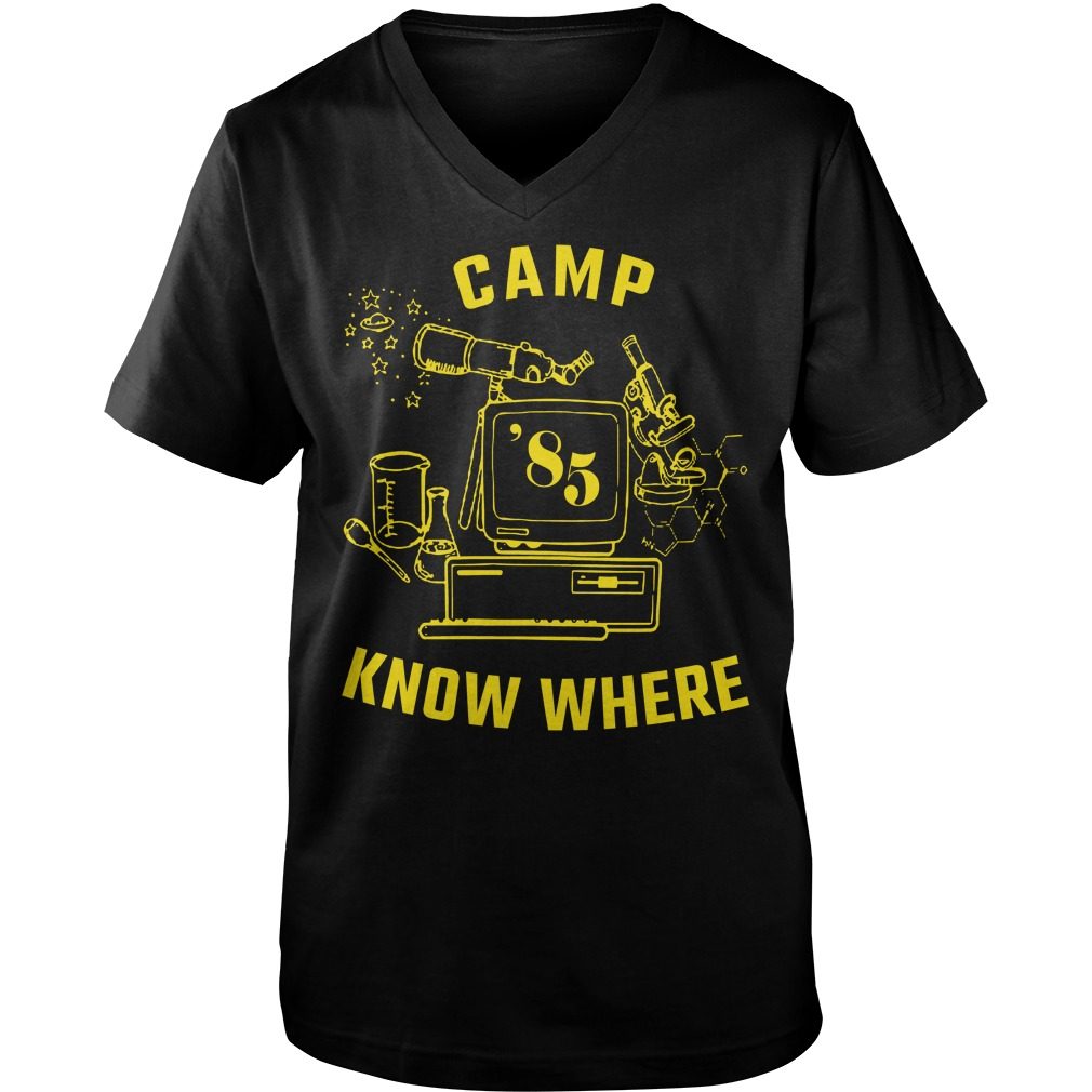 Stranger things Dustin camp know where shirt