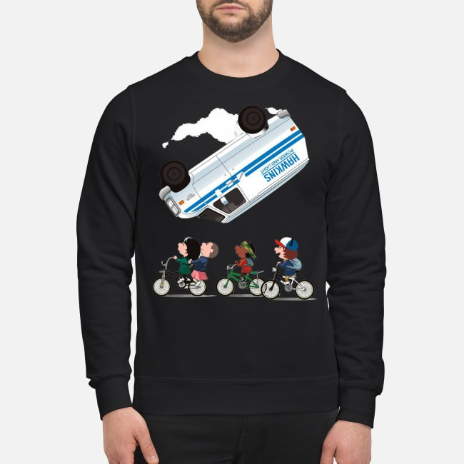 Stranger Things Eleven flip over the Van Hawkins power and light Sweater