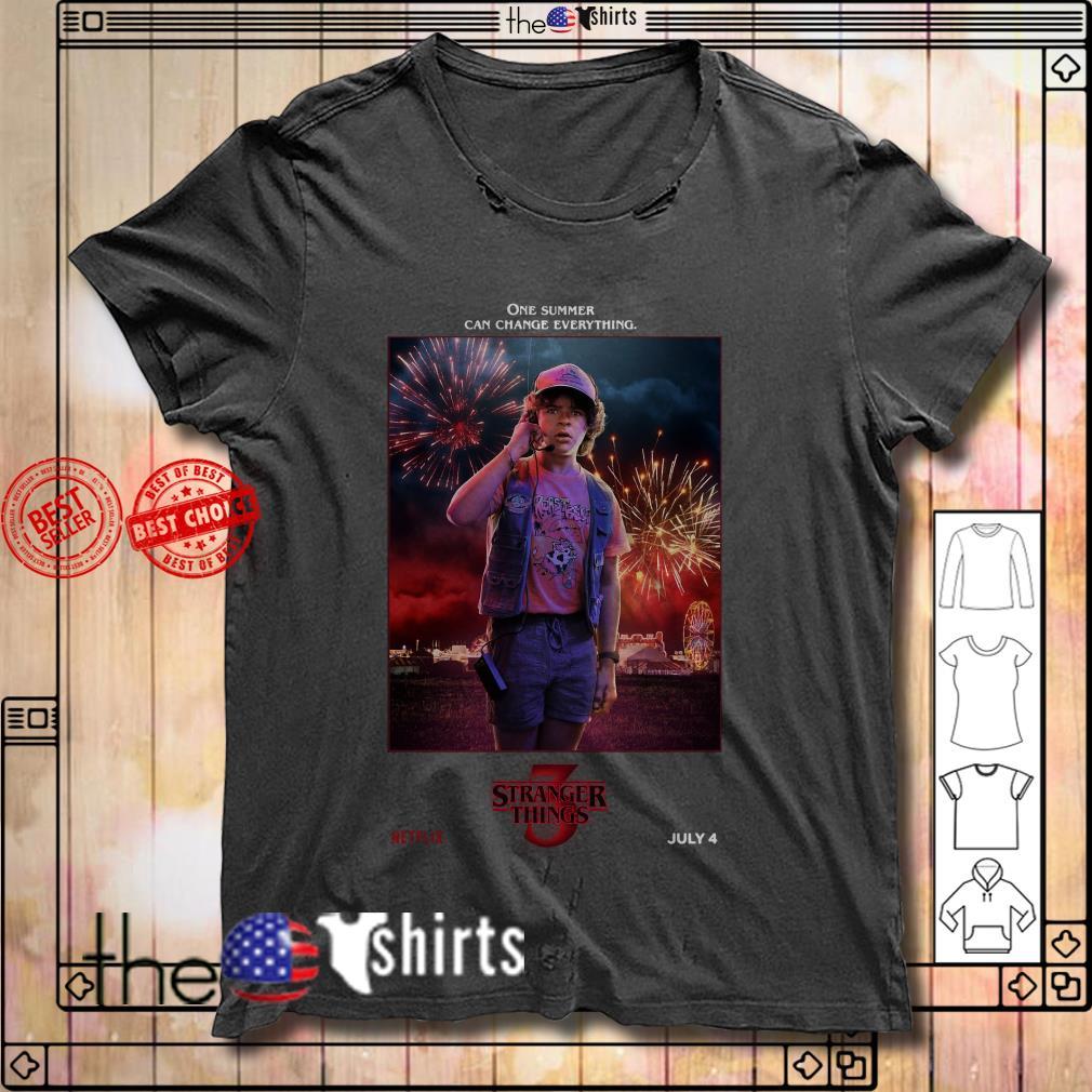 Stranger Things season 3 Dustin Henderson one summer can change everything shirt