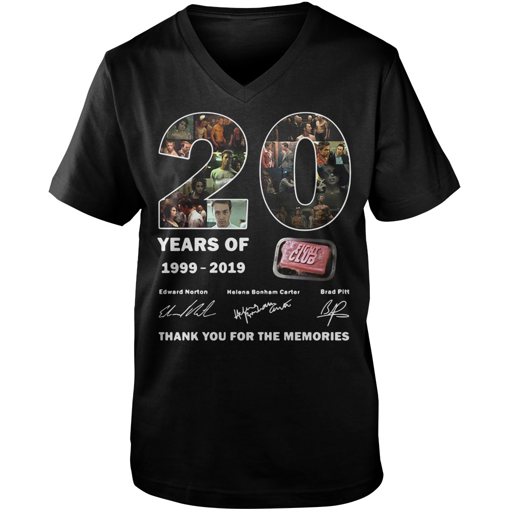 Thank you for the memories 20 years of 1999-2019 Fight Club signature Guy V-Neck