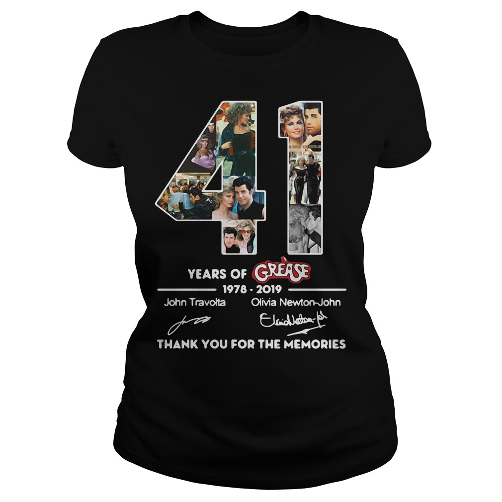Thank you for the memories 41 Years of Grease 1978-2019 Ladies Tee