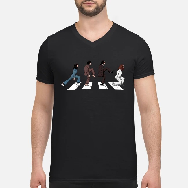 The Beatles Abbey road silly walks V-neck T-shirt