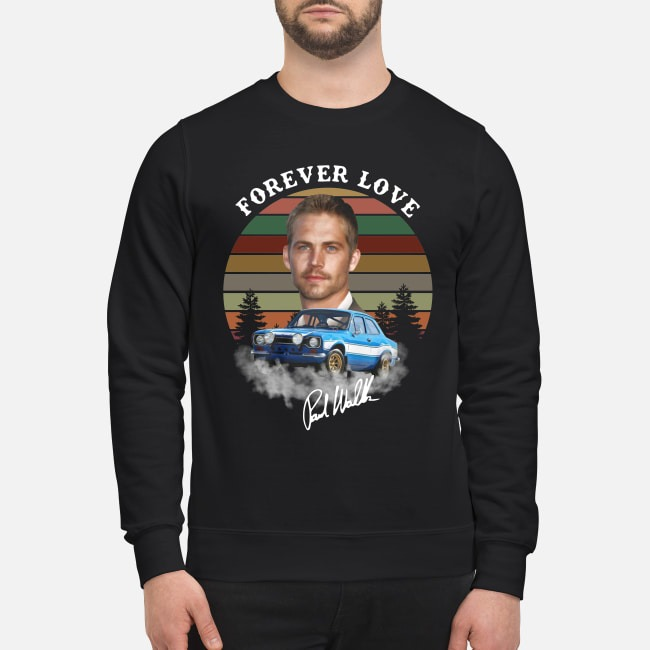 The Fast and Furious Paw Walker forever love signature sunset Sweater