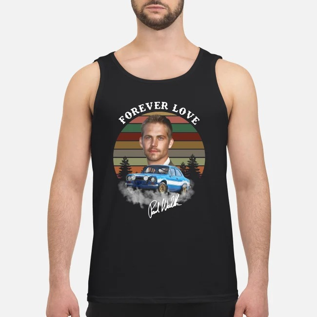 The Fast and Furious Paw Walker forever love signature sunset Tank top