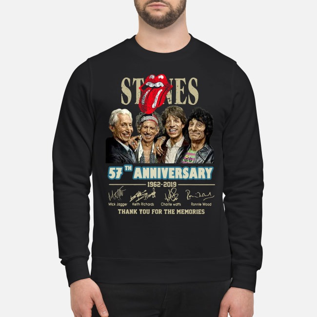 The Rolling Stones 57th anniversary 1962-2019 signatures Sweater
