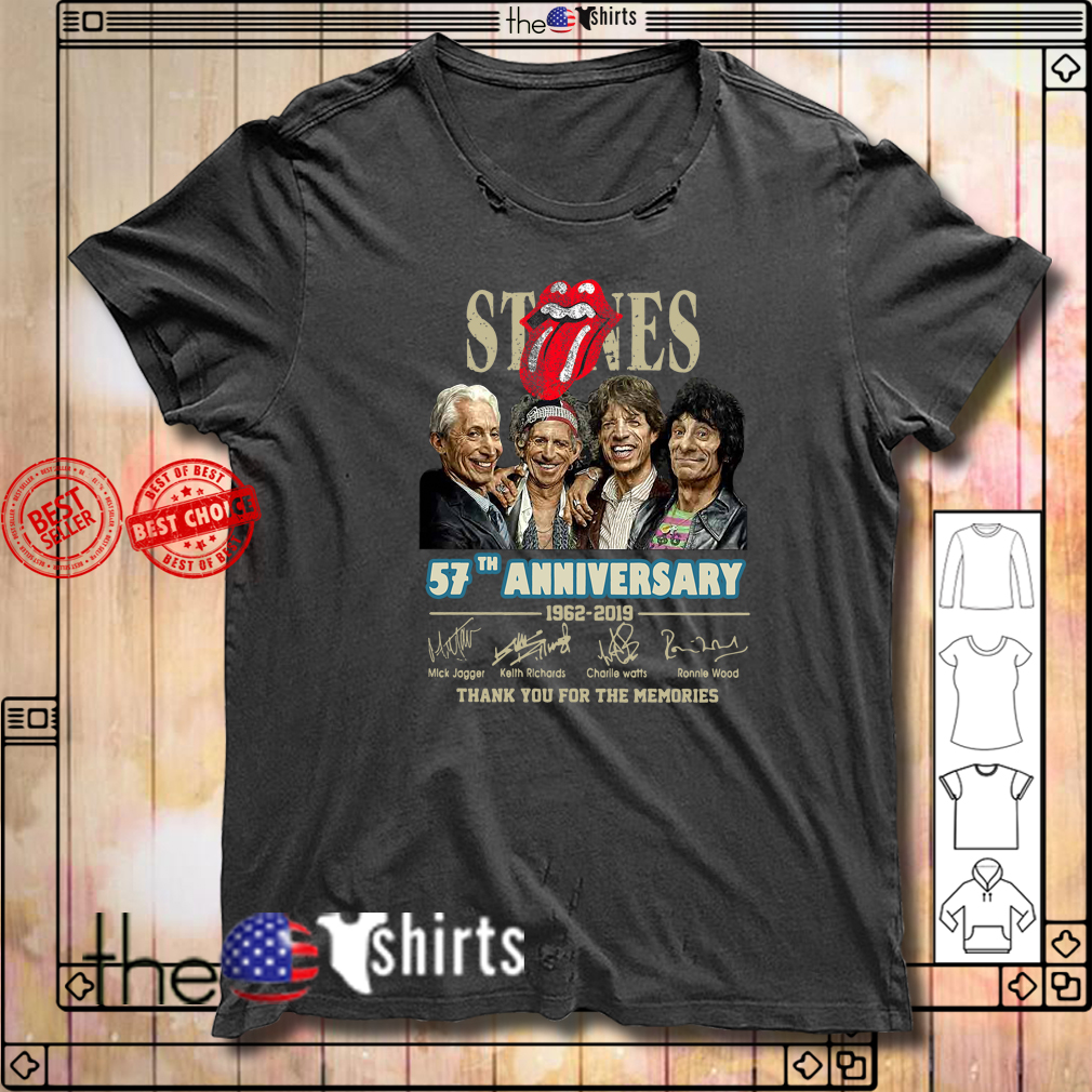 The Rolling Stones 57th anniversary 1962-2019 signatures shirt