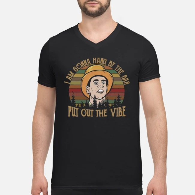 Vintage Lloyd Christmas I'm gonna Hang by the bar put out the Vibe V-neck T-shirt