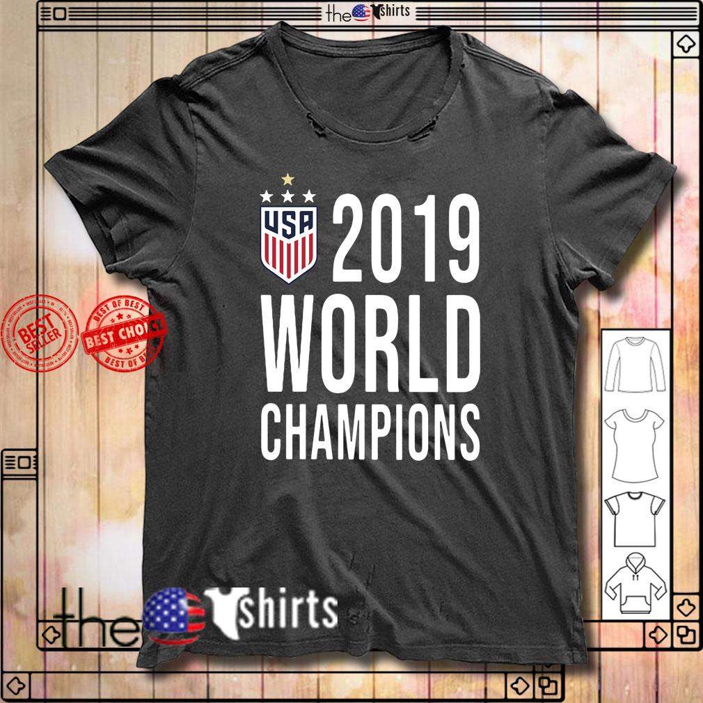 Women Soccer USA 2019 world champions shirt