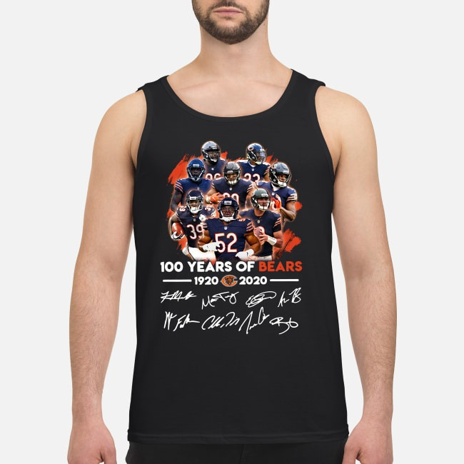 100 Years of Bears 1920-2020 signatures Tank top
