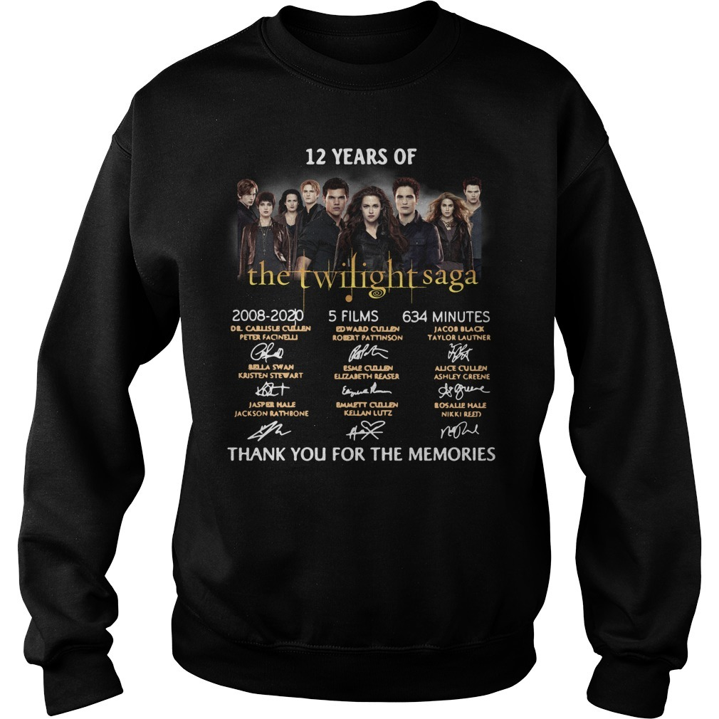 12 Years of The Twilight Saga 2008-2020 signatures Sweater