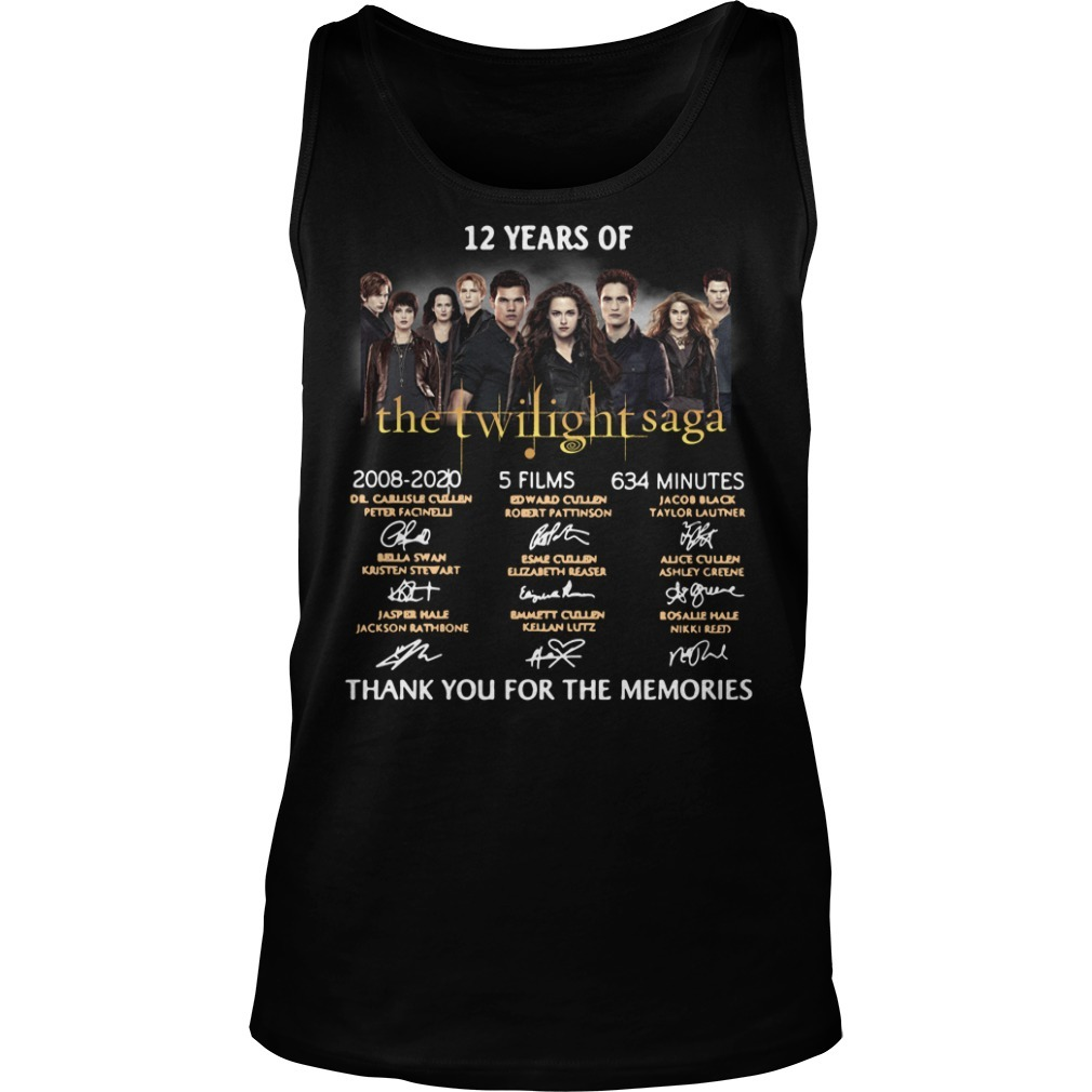 12 Years of The Twilight Saga 2008-2020 signatures Tank top