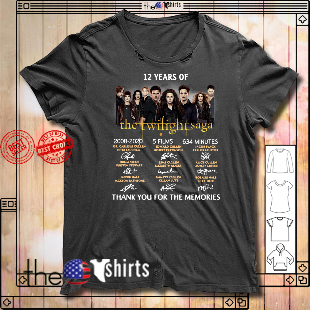 12 Years of The Twilight Saga 2008-2020 signatures shirt