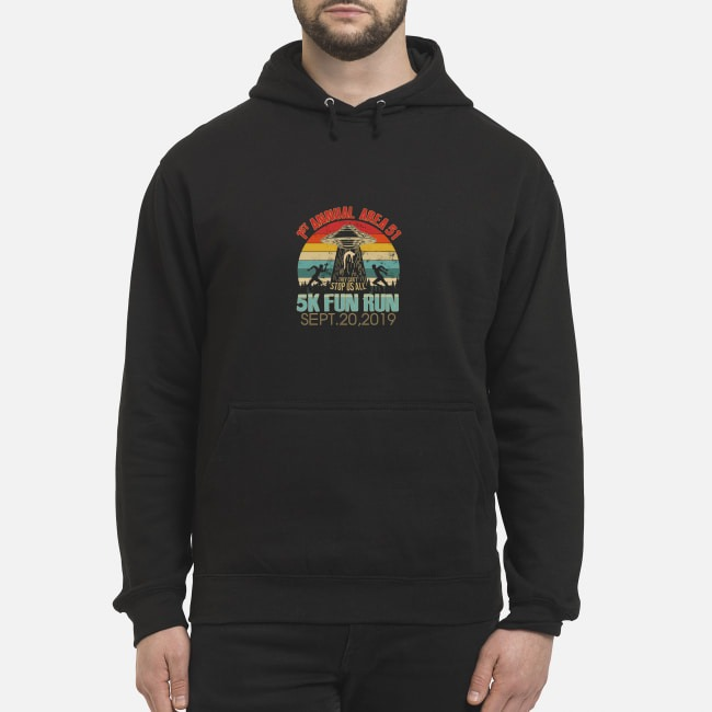 1st Annual Area 51 5K Fun Run UFO Alien vintage Hoodie