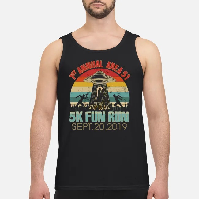 1st Annual Area 51 5K Fun Run UFO Alien vintage Tank top