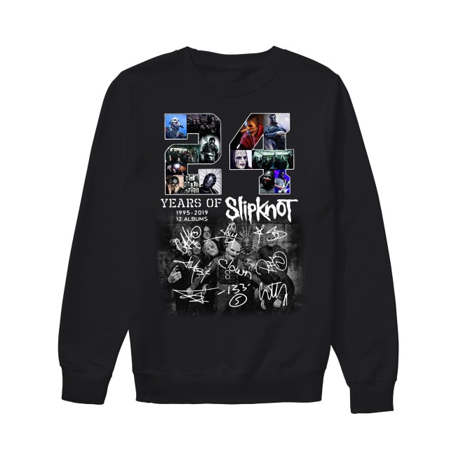 24 Years of Slipknot 1995-2019 12 albums signatures Sweater