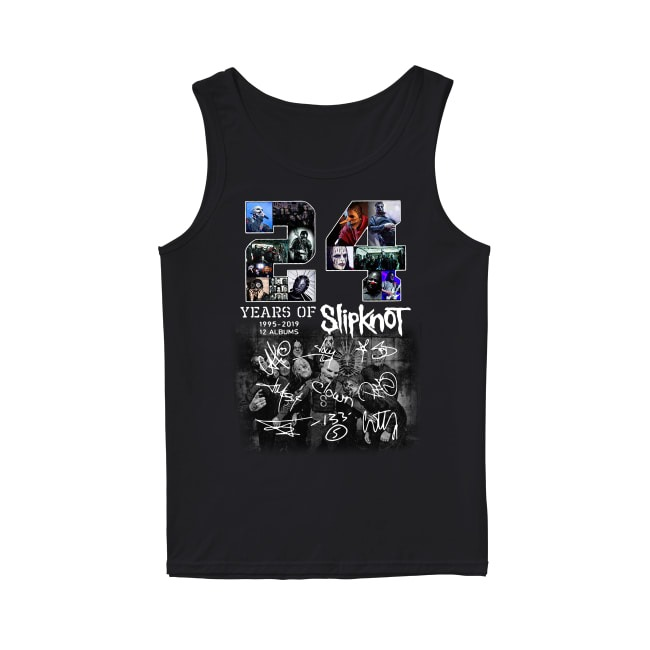 24 Years of Slipknot 1995-2019 12 albums signatures Tank top