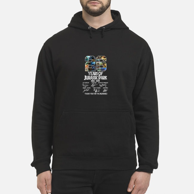 26 Years of Jurassic Park 1993-2019 signatures Hoodie