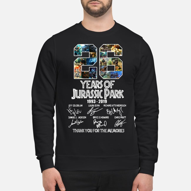 26 Years of Jurassic Park 1993-2019 signatures Sweater