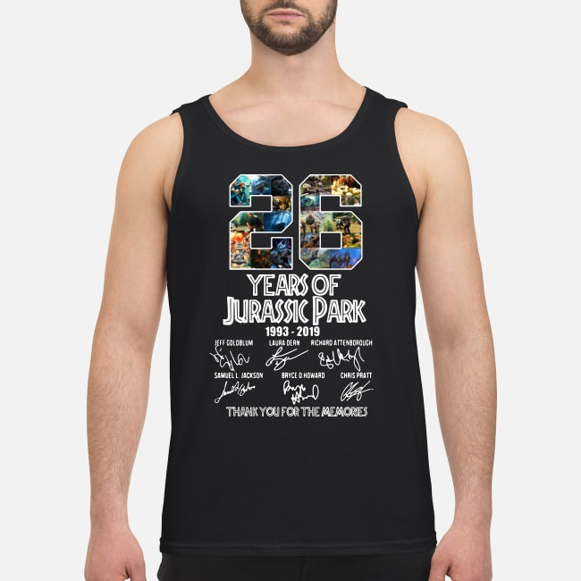 26 Years of Jurassic Park 1993-2019 signatures Tank top