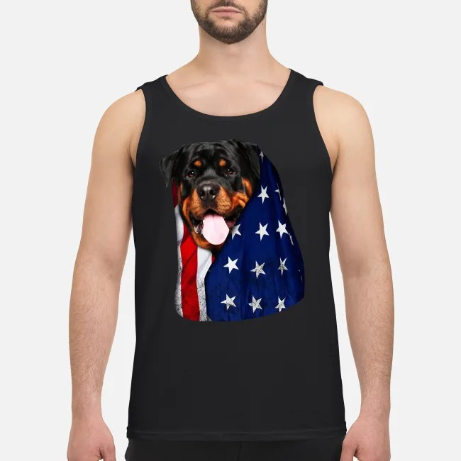 4th July independence day Rottweiler  Tank top