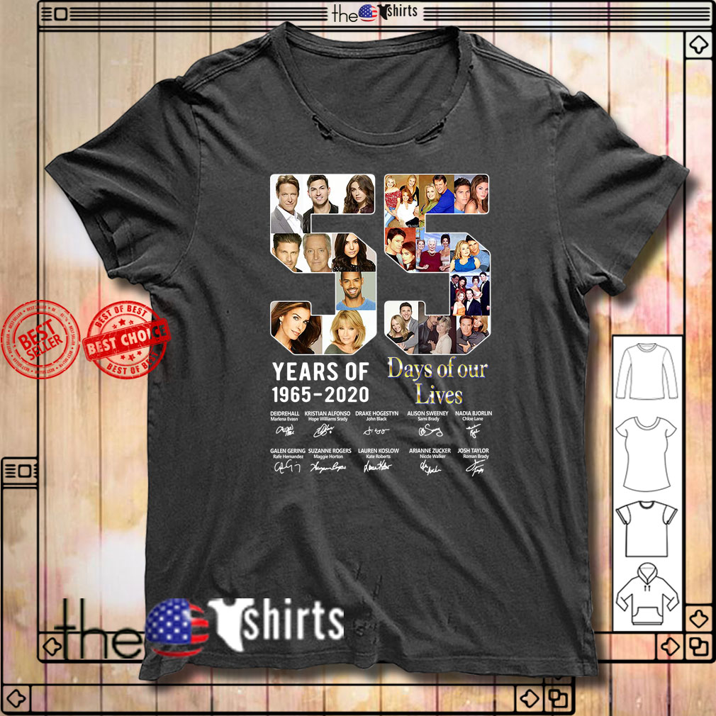 55 Years Of Day Of Our Lives 1965-2020 Signatures shirt