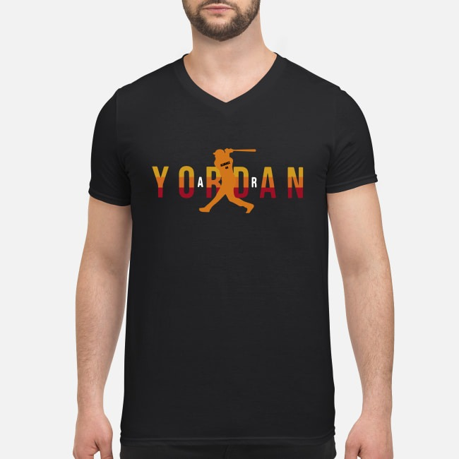 Air Yordan Astros Air Yordan 44 Houston Astros V-neck T-shirt