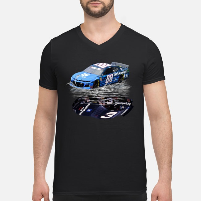 Alex Bowman water mirror Dale Earnhardt V-neck T-shirt