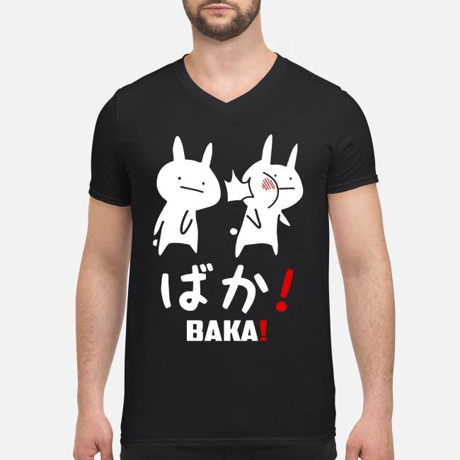 Anime baka rabbit slap Japanese V-neck T-shirt