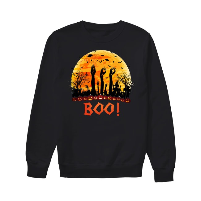 Asl Boo Halloween sunset Sweater