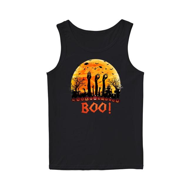 Asl Boo Halloween sunset Tank top