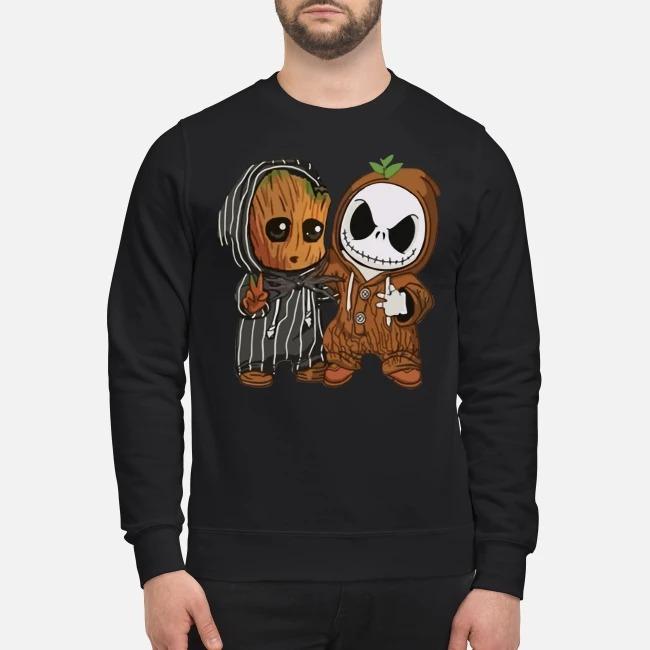 Baby Groot and Jack Skellington Sweater