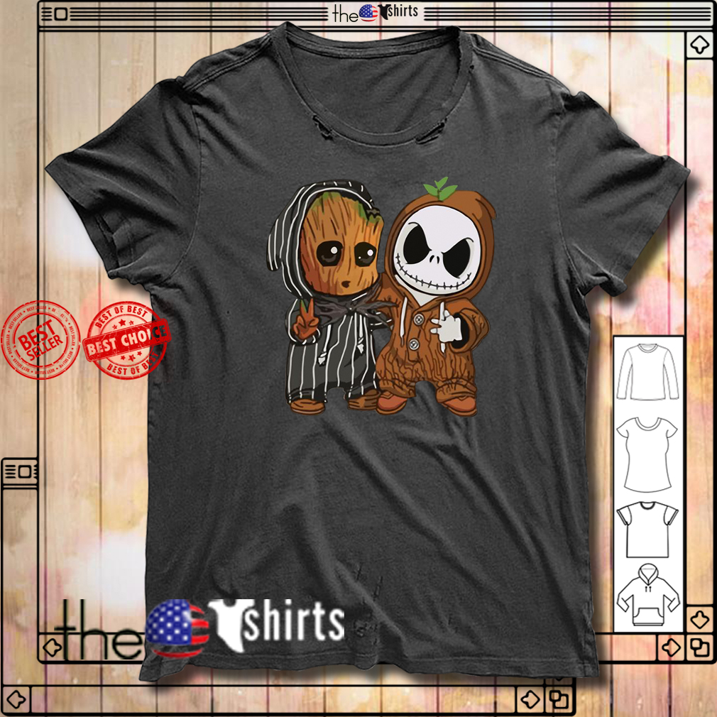 Baby Groot and Jack Skellington shirt