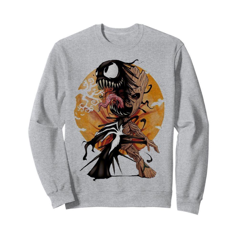 Baby Groot Venom moon Halloween Sweater