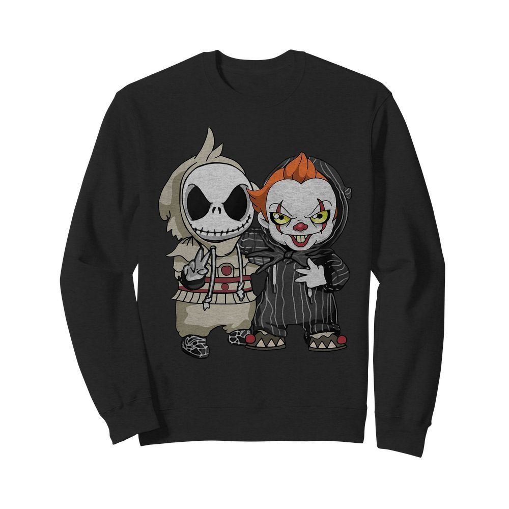 Baby Jack Skellington and Pennywise Halloween Sweater