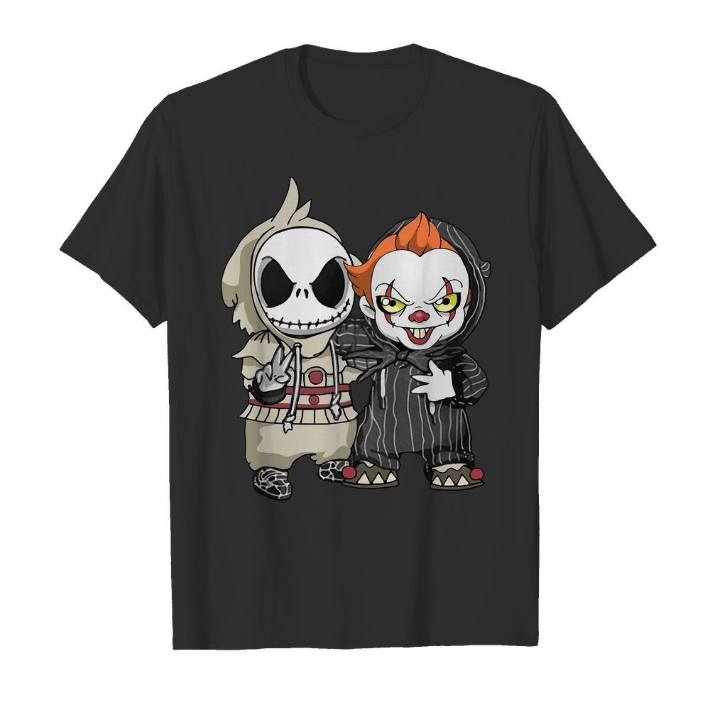 Baby Jack Skellington and Pennywise Halloween shirt