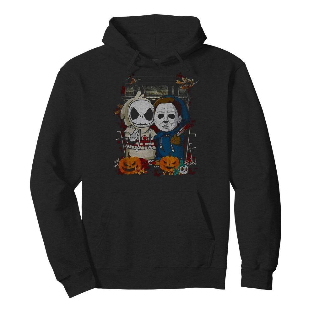 Baby Jack Skellington Michael Myers Halloween Hoodie