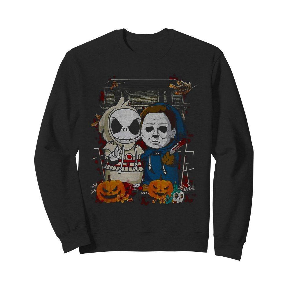 Baby Jack Skellington Michael Myers Halloween Sweater