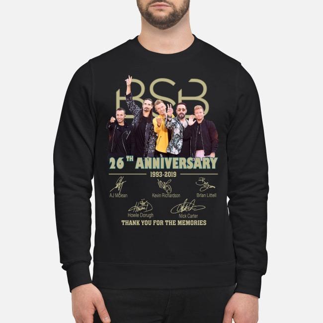 Backstreet Boys BSB 26th anniversary 1993-2019 signatures Sweater