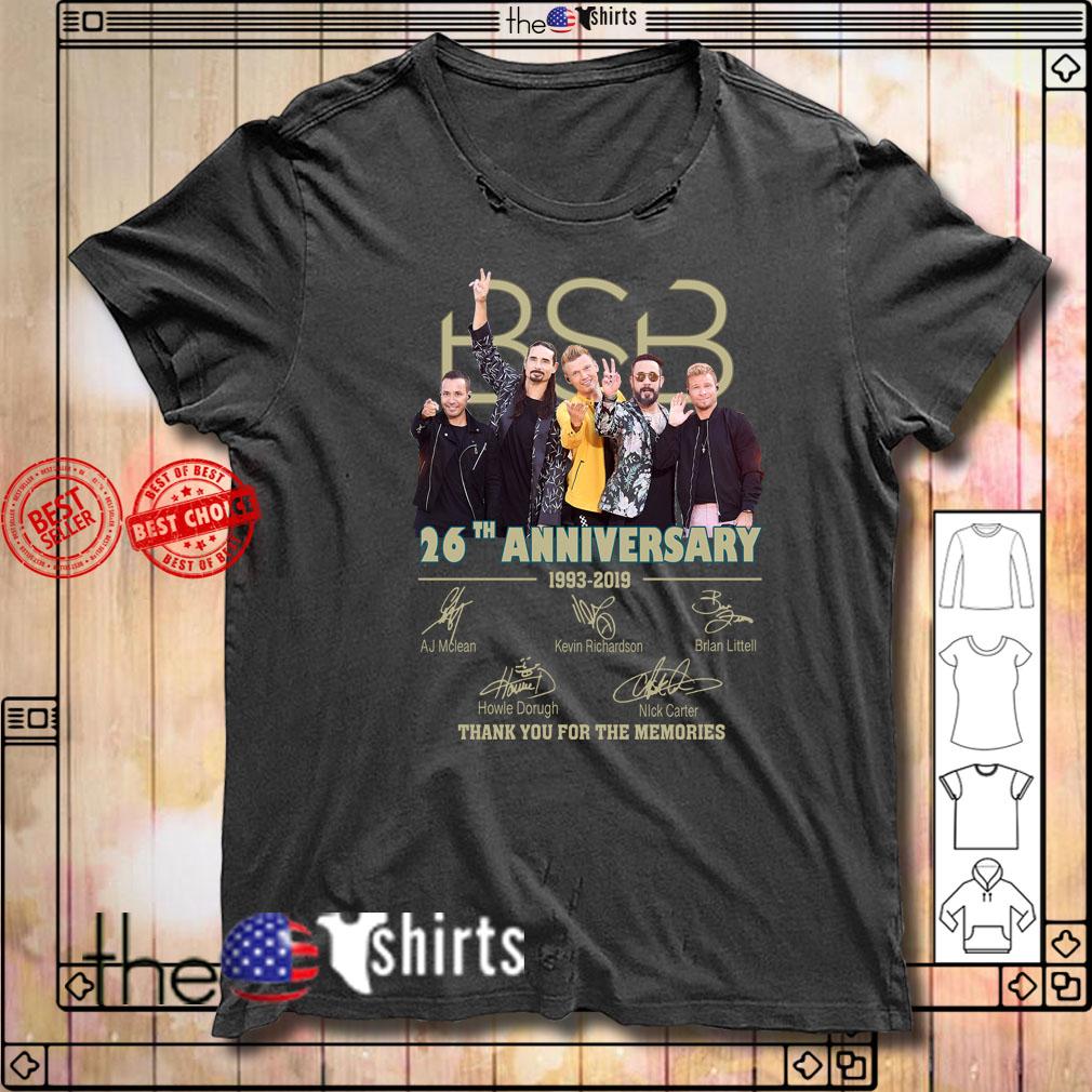 Backstreet Boys BSB 26th anniversary 1993-2019 signatures shirt
