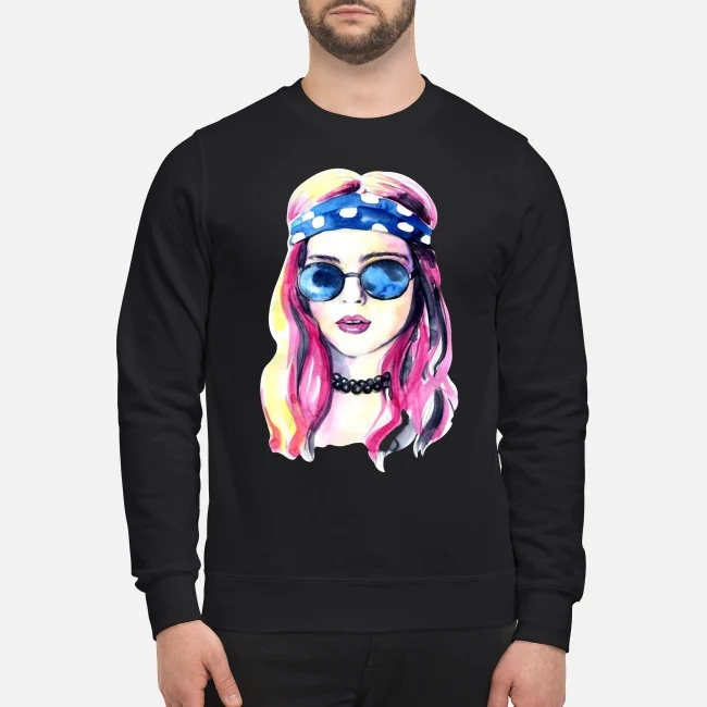 Beautiful Hippie Girl Soul Life Peace Freedom Sweater