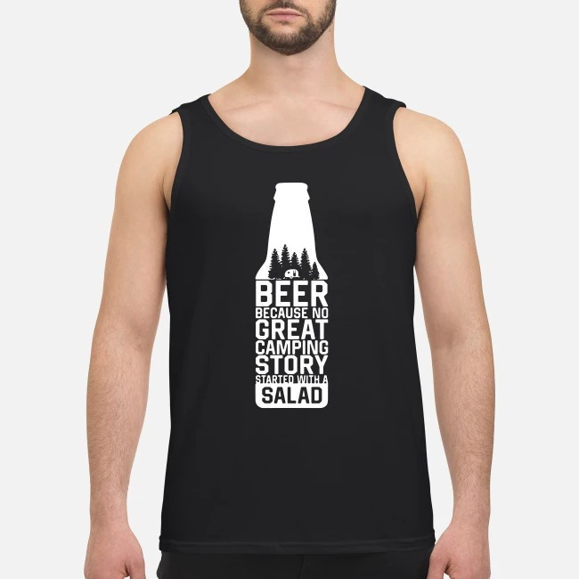 Beer because no great camping story started with a salad Tank top