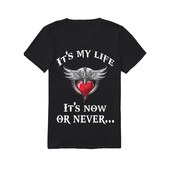 Bon Jovi it's my life it's now or never V-neck T-shirt
